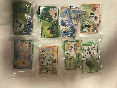 Kinder Joy Toys and Papers 8 toys w/papers never used Girl Boy Kinder Egg