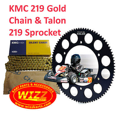 100 Link KMC Premium Chain and 219 Talon Sprocket Offer WIZZ KARTS