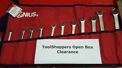 Open Box - Genius Tools 11pc Metric Combination Ratcheting Wrench Set GW-7211M