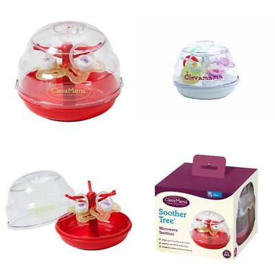 Clevamama Baby Soother Dummy Pacifier Tree Microwave Steriliser Cleaner Portable