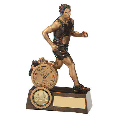 Resin Male Running Trophies Athletics Awards 3 sizes FREE Engraving