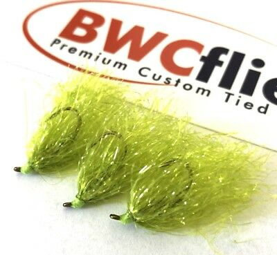 BWC Flies Weed fly 3 x Weighted Bright  for Blackfish and Luderick