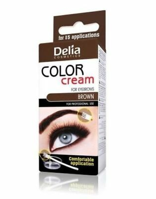 Delia Henna Color Cream Eyebrow Tint Kit Set Brown By Delia Poland