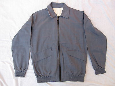 EUC Mens Barbour Size M A581 Lightweight Reversible Jacket Bluish Gray/Ivory