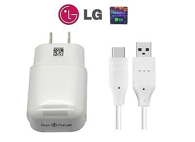 Original LG Rapid Fast Wall Charger +Type C Cable For LG V30 V30+ G6 G5 NEW