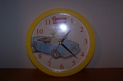 Collectable Curious George / Man In The Yellow Hat Riding In Car Wall Clock