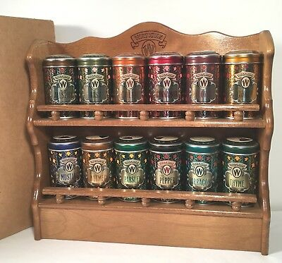 Watkins Wooden Spice Rack With Tins.  Never Used.  Up to 8 Available