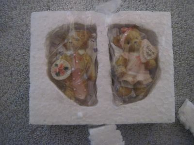 Exclusive Cherished Teddies Valentine Magnets Avon Set Of Two Never Out Of Box