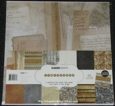 "Kaisercraft 'DOCUMENTED' 12x12"" Paper Pk + Stickers School/Journal KAISER 01/18"