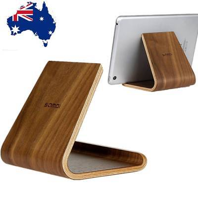 AU! Samdi Universal Wooden Desktop Stand Holder Bracket For iPad Laptop Tablet