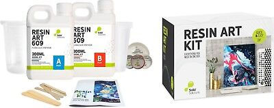 Resin Art Kit with the lot Includes everything you need! EpoxyResin & Colourants