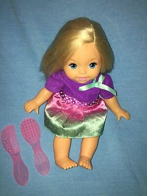 "2010 Fisher Price Little Mommy---14"" Baby Doll---Princess Sparkle Crown---Blonde"