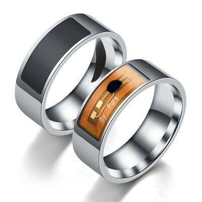AU NFC Magic Ring Men Women Smart Stainless Steel Ring For Hawei iPhone Android