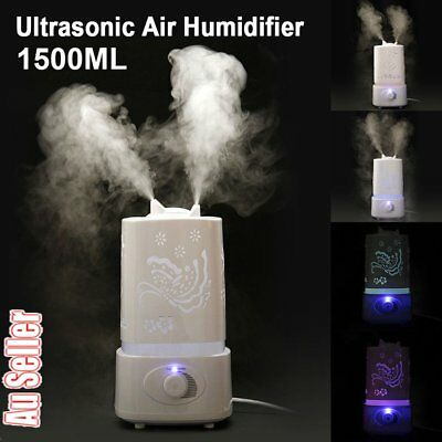 1.5L 7LED Light Air Humidifier Ultrasonic Steam Aroma Diffuser Purifier Mist FN