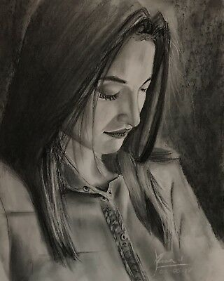 "Original Charcoal Drawing ""Muniba Mazari"""