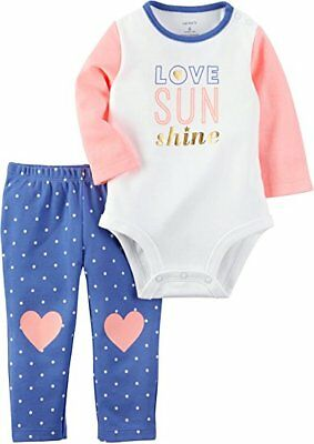 NWT CARTER'S Baby Girls' 2-Piece Love Bodysuit and Heart Leggings Set 18 Months