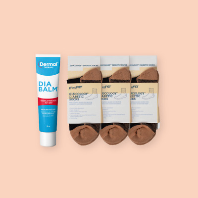 Foot Care | Glucology® Diabetic Socks | Cream Heel Cracked Feet | Dia-Balm