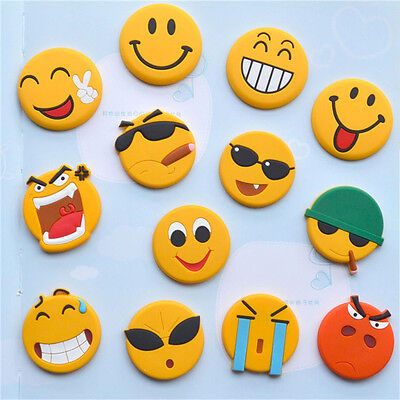 Emoji Cartoon Expression Fridge Magnet Decor Whiteboard Note Message Holder FE