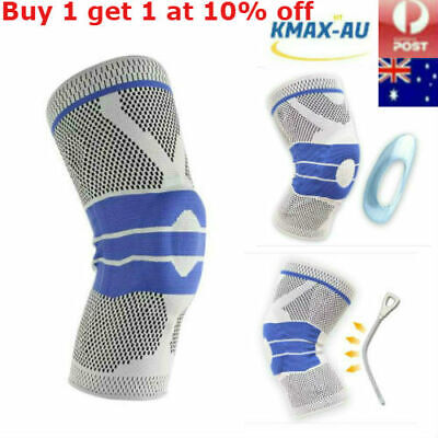 Contoured Full Knee Brace Strap Patella Medial Support Protector Silicone Gel