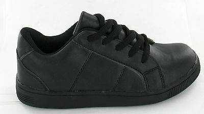 Boys Cutie Laceup N1035 Am4 Black Sizes 13-5 Back To School Shoes