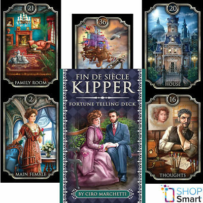 Fin De Siècle Kipper Oracle Cards Deck Ciro Marchetti Esoteric Telling New