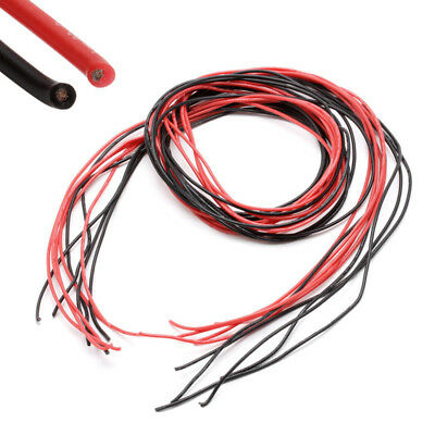 2M 24 Gauge AWG Silicone Wiring Wire Flexible Stranded Copper Cables ...