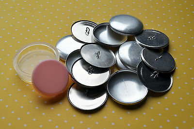 10 x self cover metal shank back buttons size 60 (38mm) + TOOL