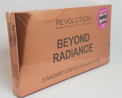 Makeup Revolution Highlighter Palette 3 Baked BEYOND RADIANCE New