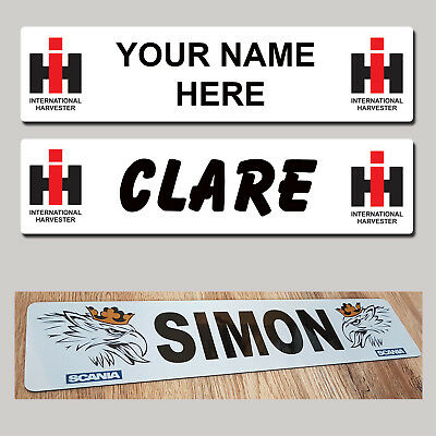 International Harvester Tractor Combine NAME PLATES Sign Custom Truck