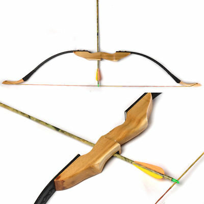 Mongolian Wooden Handle Recurve Bow Right/Left Hand User Archery 30/40LBS