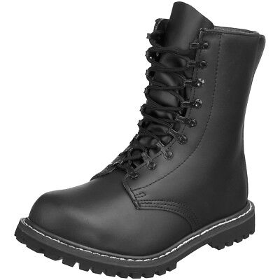 German Army Paratrooper Combat Black Mens Leather BW Cadet Military Boots