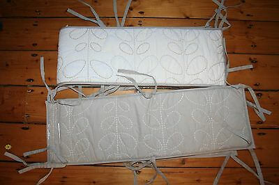 beautiful living textiles baby cot bumper embroidered.