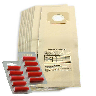 10 x H4 H18 Type Paper Dust Bags for BLOMBERG UPRIGHT BU11 + 10 Fresheners