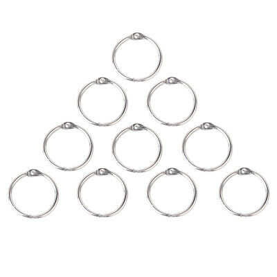Prettyia 10pcs Hinged Ring Binder Craft Split Metal Hinge for Album Scrapbooking