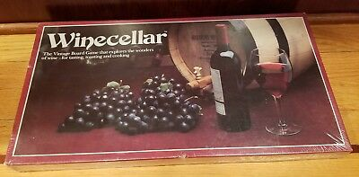Vintage 1984 Winecellar Board Game Explores The Wonders Of Wine New Sealed
