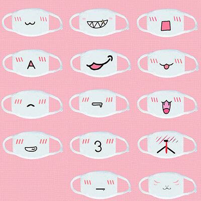 Anime Emoticon Mouth-Muffle Kaomoji Anti-Dust Cute Kawaii Face Mask Natural