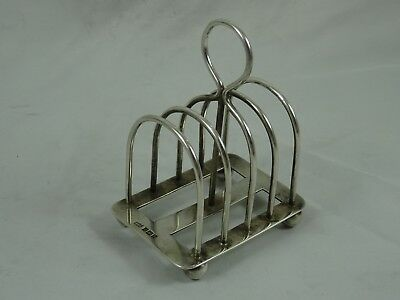 MAPPIN & WEBB solid  silver TOAST RACK, 1909,  103gm
