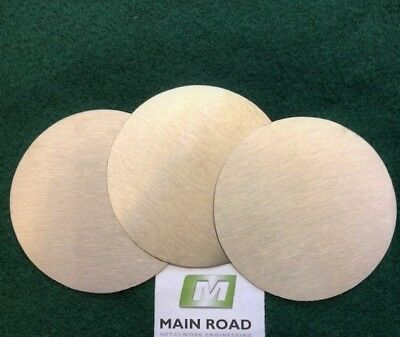 Aluminium Discs / Circles 2.0mm thick various diameters