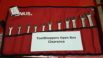Open Box - 11pc Metric Combination Flex Head Ratcheting Wrench Set GW-7411M