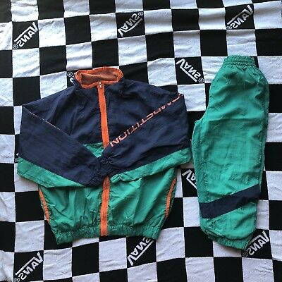 Youth Nautica Competition Nylon Track Suit Green Hue Size M/L