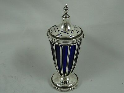 STYLISH solid silver PEPPER POT, 1919