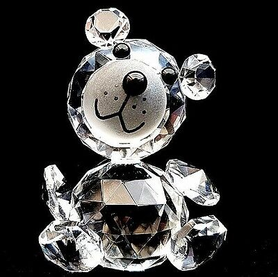 Cut Crystal Teddy Bear Ornament