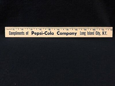 Vintage 1950's-Early 60's Pepsi- Cola / Long Island City, Ny Wooden Ruler