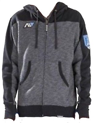 NEW_Mass Effect 4 Bioware ANDROMEDA HOODIE_MENS Size SMALL_Black/Grey Blue_PATCH