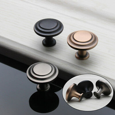 10Pcs Door Handle Knob Retro Kitchen Drawer Cabinet Cupboard Wardrobe Round Pull