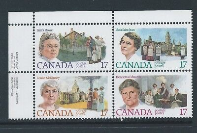 Canada #879i (#882a) UL PL BL Pink Broach on Collar Variety MNH *Free Shipping*