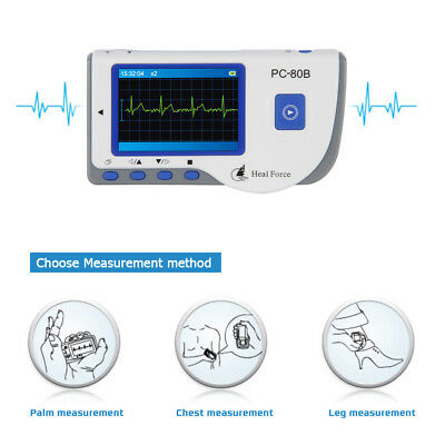Heal Force Portable LCD EKG ECG Monitor Heart Rate Monitor + 50 ECG Electrodes