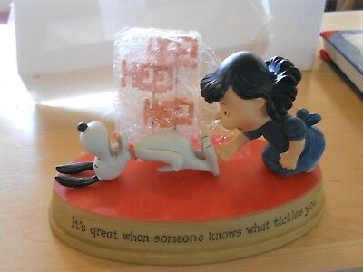 """Hallmark Peanuts Lucy Snoopy Figurine """" ...When Someone Knows What Tickles You"""""""