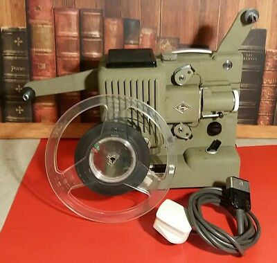 Eumig P8 Projector tested working with new belt, cable,  reel, instructions
