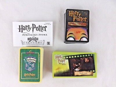 Harry Potter Sorcerers Stone Trading Cards Quidditch Game Foil Lot of 248